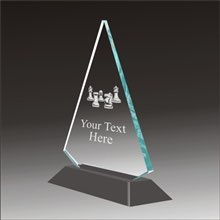 Pop-Peak chess acrylic award