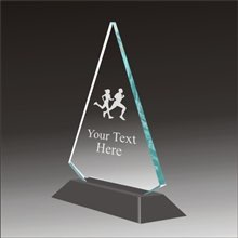 Pop-Peak cross country running acrylic award