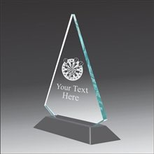 Pop-Peak dart throwing acrylic award