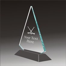 Pop-Peak hockey acrylic award