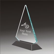 Pop-Peak motocross acrylic award