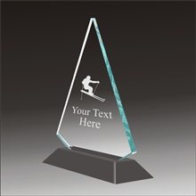 Pop-Peak ski acrylic award