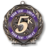 CUSTOM TEXT 5K Medal