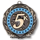 Blue Colored Ring 5K Medal
