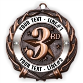Custom Text 3rd Place Medal