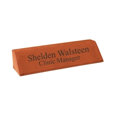 Leather Desk Nameplate