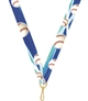 "Baseball Snap Clip ""V"" Neck Medal Ribbon"