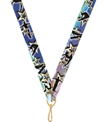 "Gymnastics Snap Clip ""V"" Neck Medal Ribbon"