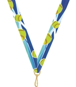 "Softball Snap Clip ""V"" Neck Medal Ribbon"