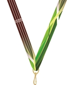 "Track Snap Clip ""V"" Neck Medal Ribbon"