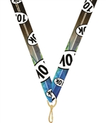 "10K Snap Clip ""V"" Neck Medal Ribbon"