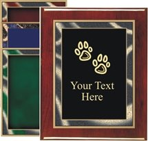Piano Finish Dog Award Plaque