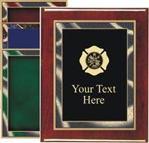 Piano Finish Fire Rescue Award Plaque
