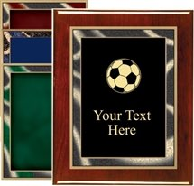 Piano Finish Soccer Award Plaque