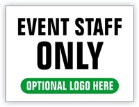 Event Parking Sign - Event Staff Only