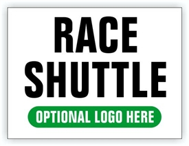 Event Parking Sign - Race Shuttle