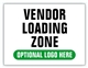 Event Parking Sign - Vendor Loading Zone