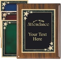 Piano Finish Attendance Award Plaque