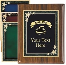 Piano Finish Curling Award Plaque