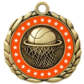 Colored Ring Basketball Medal
