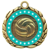 Colored Ring Volleyball Medal