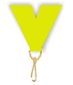 "Neon Yellow Snap Clip ""V"" Neck Medal Ribbon"