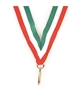 "Red/White/Green Snap Clip ""V"" Neck Medal Ribbon"