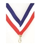"Red/White/Blue Snap Clip ""V"" Neck Medal Ribbon"