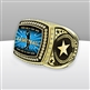 Gigantic Custom Text Champion Basketball Ring