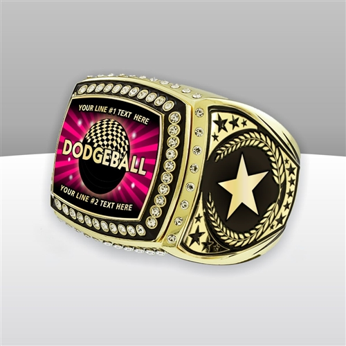 Gigantic Custom Text Champion Dodgeball Ring