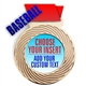 Baseball Full Color Insert Medal