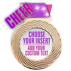 Cheer Full Color Insert Medal