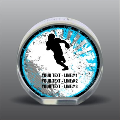 Full Color Printed Football Acrylic Award