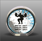 Full Color Printed Weightlifting Acrylic Award