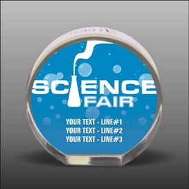 Full Color Printed Science Acrylic Award