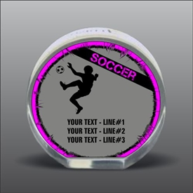 Full Color Printed Soccer Acrylic Award