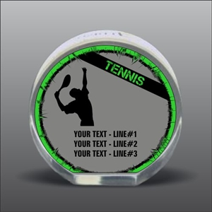 Full Color Printed Tennis Acrylic Award