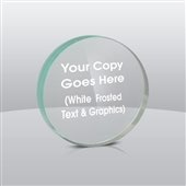 Circle or Round Acrylic Paperweight Award