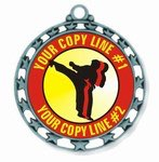 Martial Arts Medal 2-1/2""
