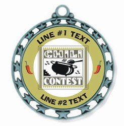 Chili Cook Off Medal 2-1/2""