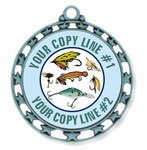Fishing Medal 2-1/2""
