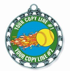 Softball Medal 2-1/2""