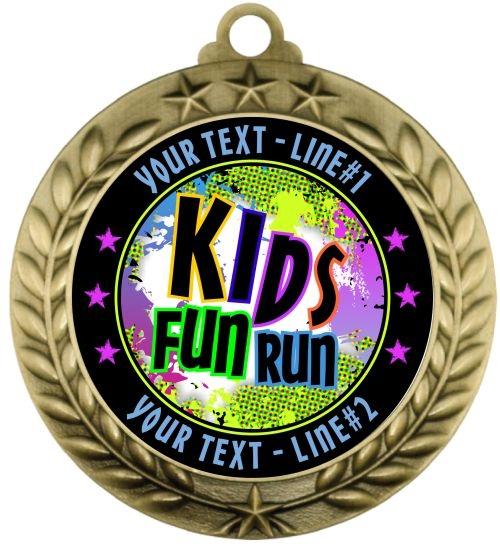 CUSTOM Kids Run Medal #cus039aKIDSRUN1