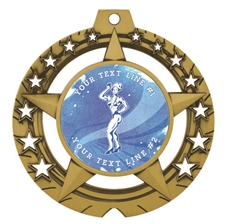 Female Body Building Medal