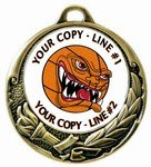 Basketball Medal 2-3/4""