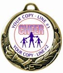 Cheerleading Medal 2-3/4""