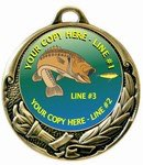Fishing Medal 2-3/4""