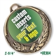 Custom Full Color Insert Medal | Custom Printed Medal | Available in antique gold, silver or bronze finish.