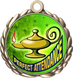 Perfect Attendance Award Medal