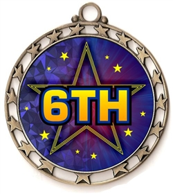 6th Place Award Medal